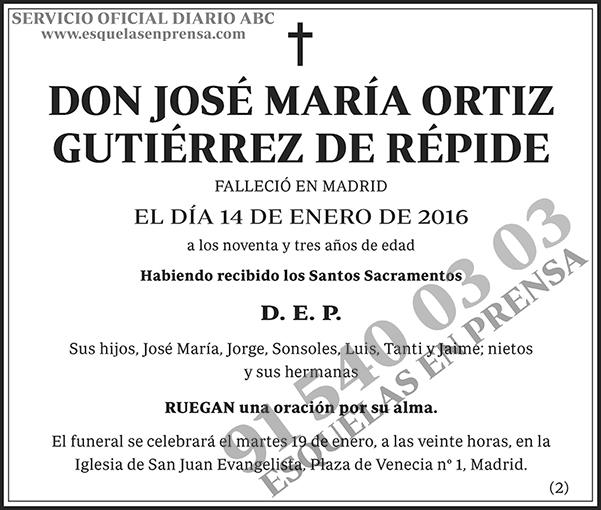 José María Ortiz Gutiérrez de Répide